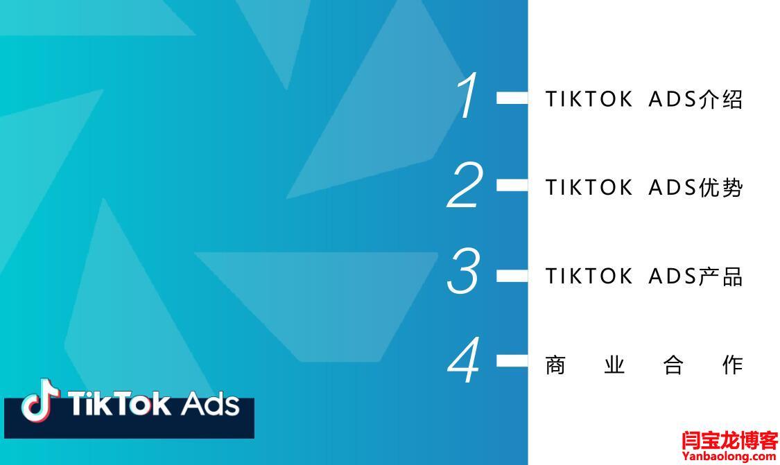 TIKTOK ADS产品及广告介绍