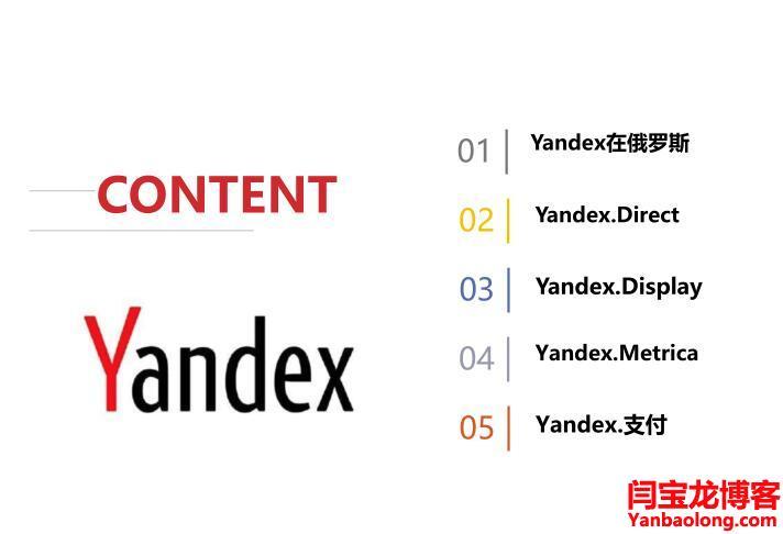 Yandex在俄罗斯推广方案分享